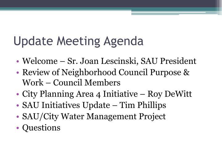 Update Meeting Agenda