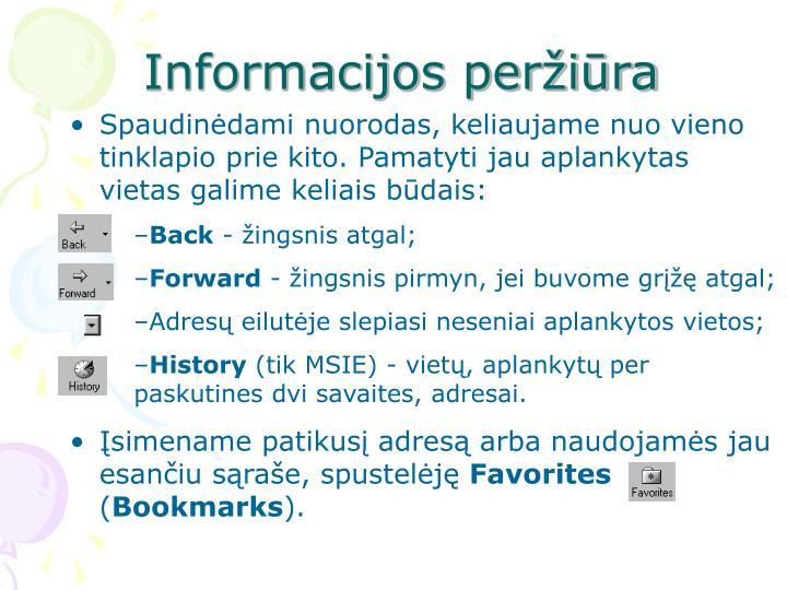 Informacijos peržiūra