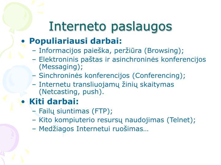 Interneto paslaugos