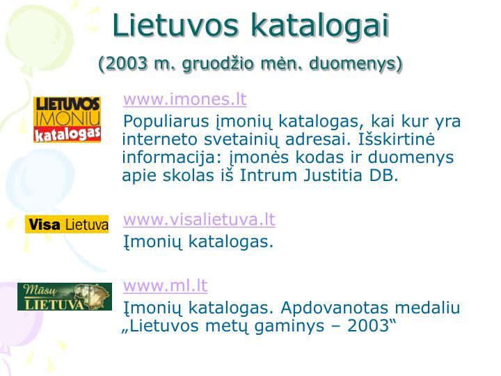 Lietuvos katalogai