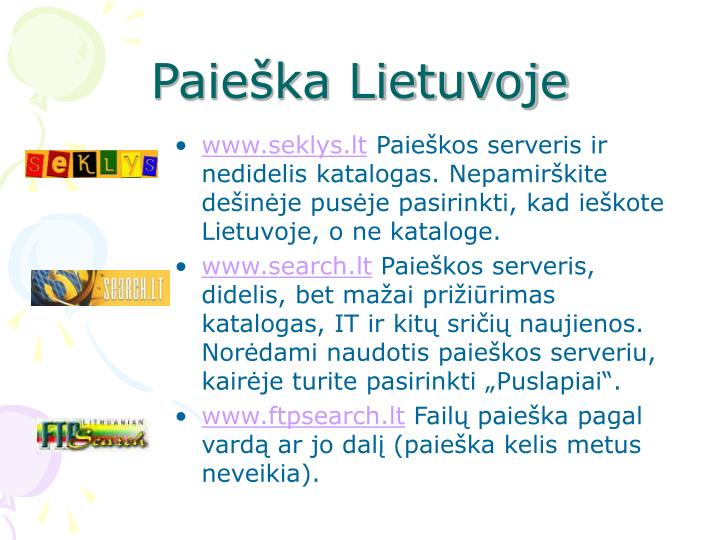Paieška Lietuvoje