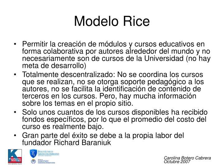 Modelo Rice