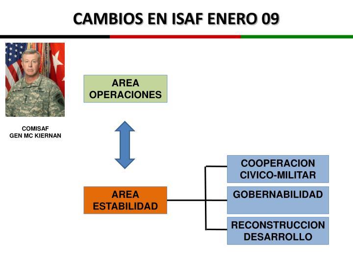 CAMBIOS EN ISAF ENERO 09