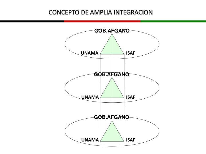 CONCEPTO DE AMPLIA INTEGRACION