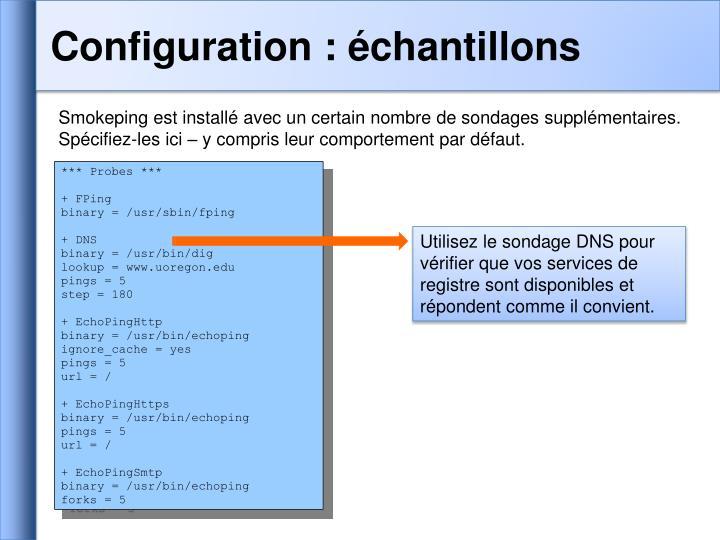 Configuration : échantillons