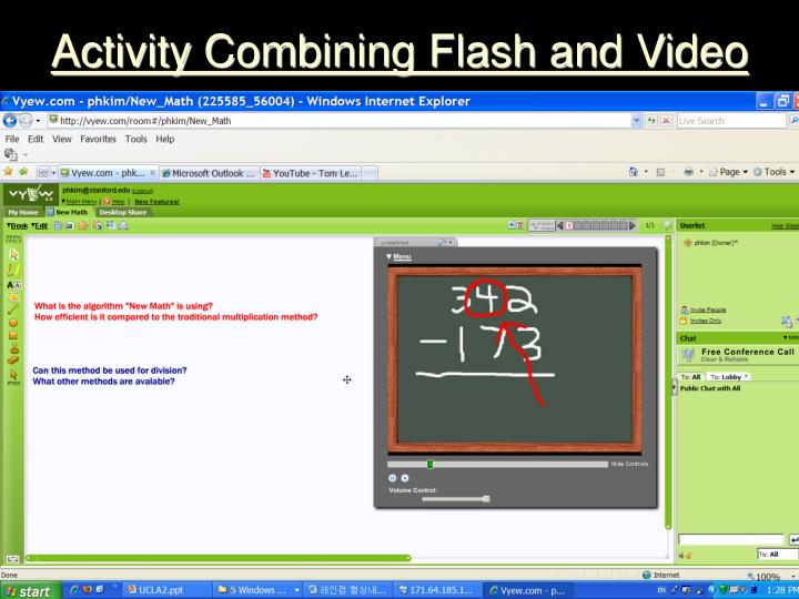 Activity Combining Flash and Video