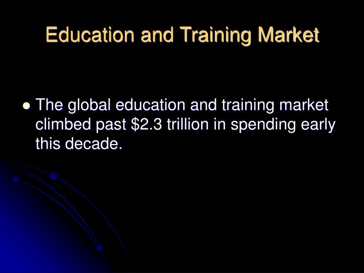 Education and Training Market
