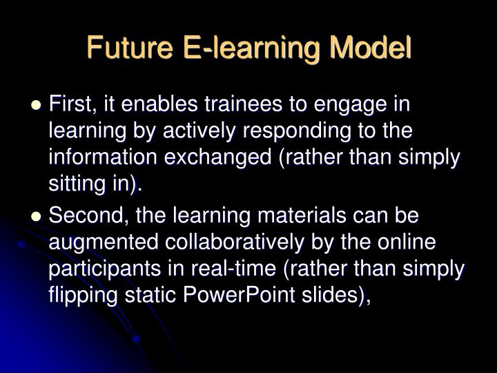 Future E-learning Model