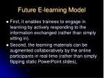future e learning model