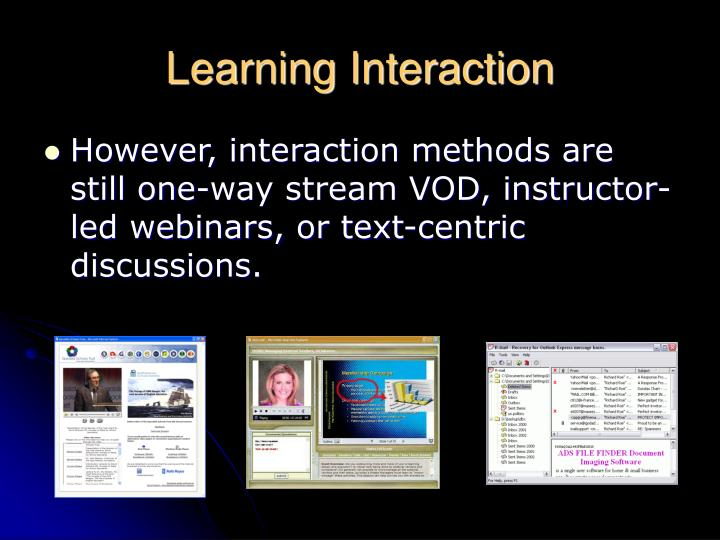 Learning Interaction