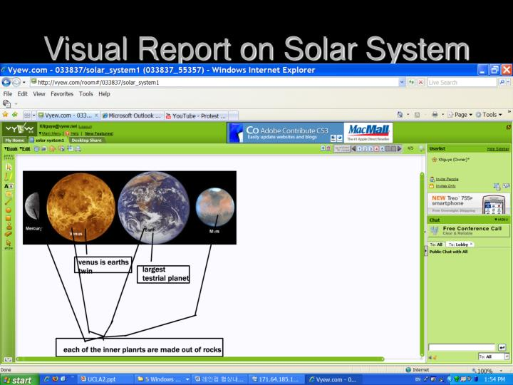 Visual Report on Solar System