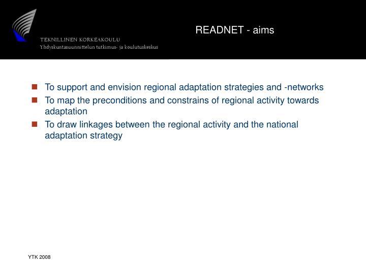 READNET - aims