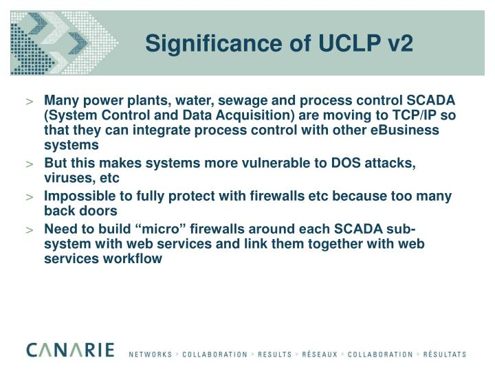 Significance of UCLP v2