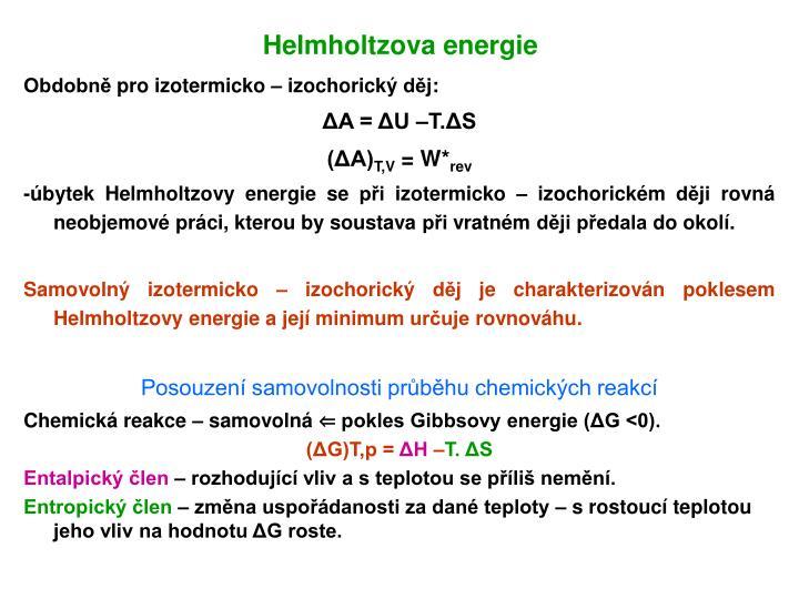 Helmholtzova energie