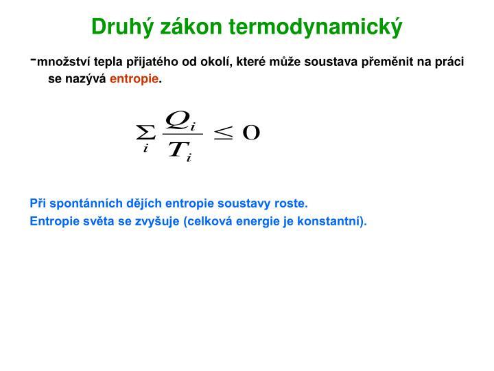 Druhý zákon termodynamický