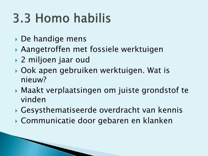 3.3 Homo