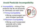 avoid pesticide incompatibility