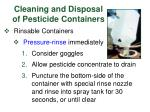 cleaning and disposal of pesticide containers1