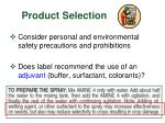 product selection1