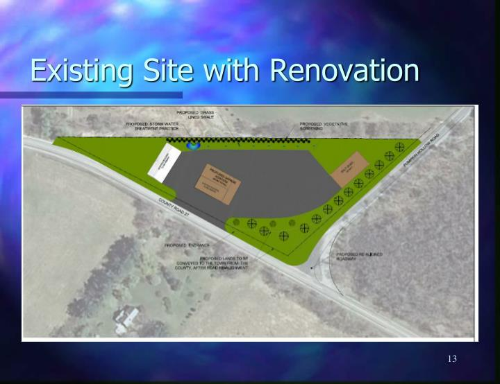 Existing Site with Renovation