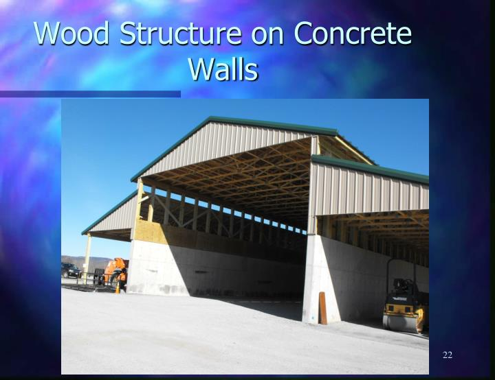 Wood Structure on Concrete Walls