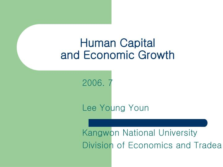 Economic term human capital