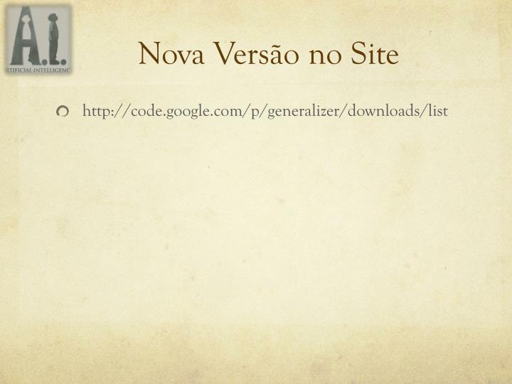 Nova Versão no Site