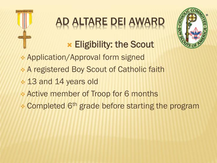 Eligibility: the Scout