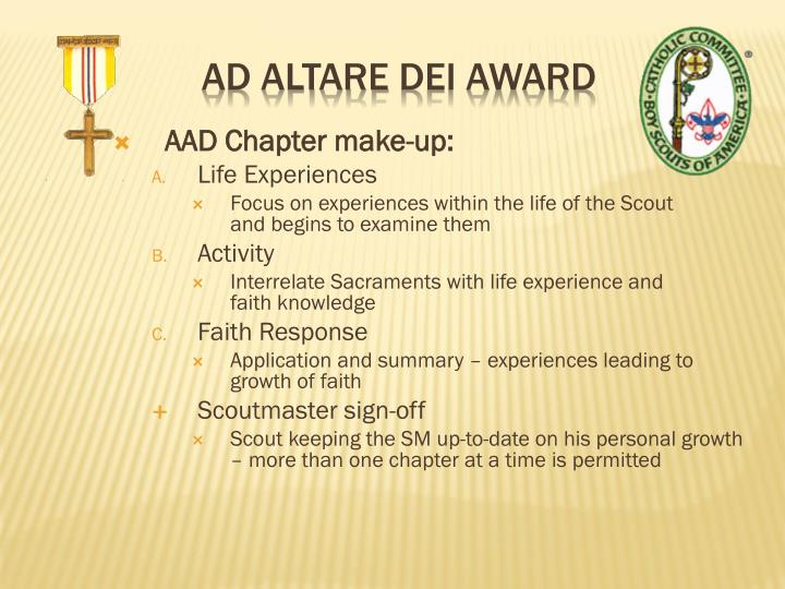 AAD Chapter make-up: