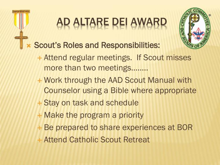 Scout's Roles and Responsibilities: