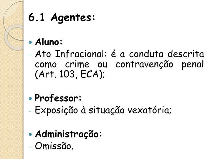 6.1 Agentes: