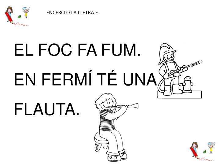ENCERCLO LA LLETRA F.