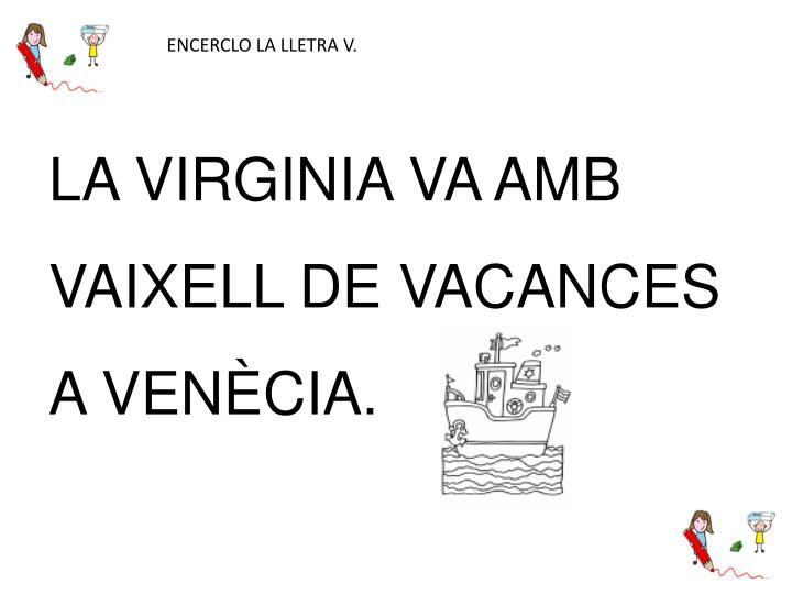 ENCERCLO LA LLETRA V.