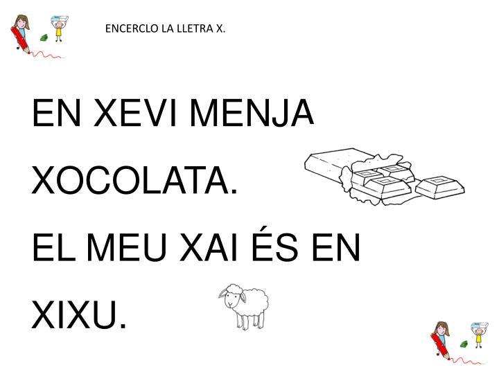 ENCERCLO LA LLETRA X.