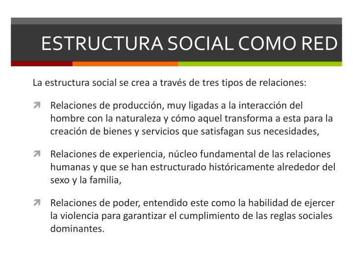 ESTRUCTURA SOCIAL COMO RED