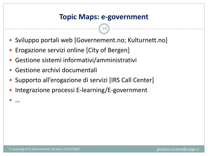 Topic Maps: e-government