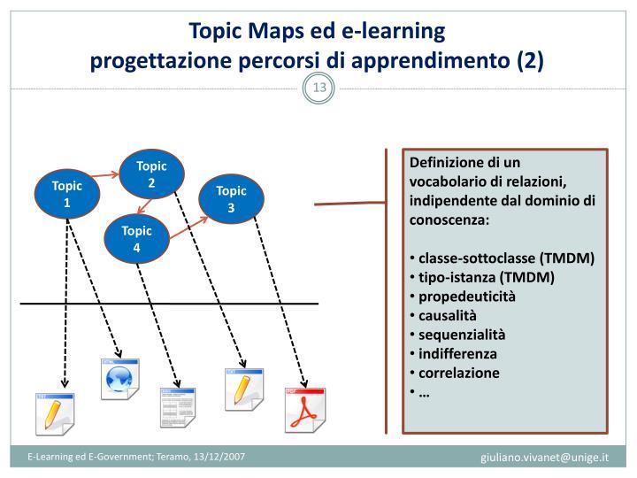 Topic Maps ed e-learning