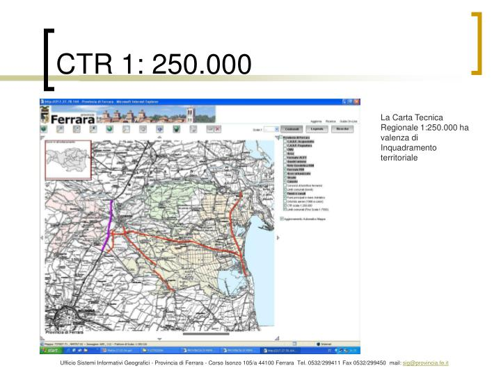 CTR 1: 250.000