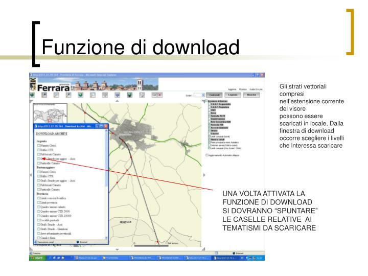 Funzione di download
