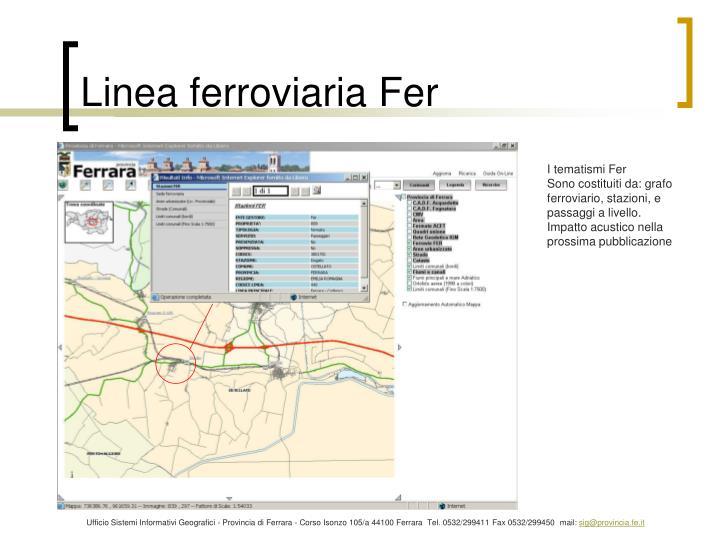 Linea ferroviaria Fer