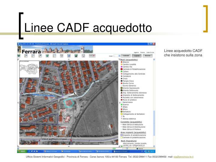 Linee CADF acquedotto