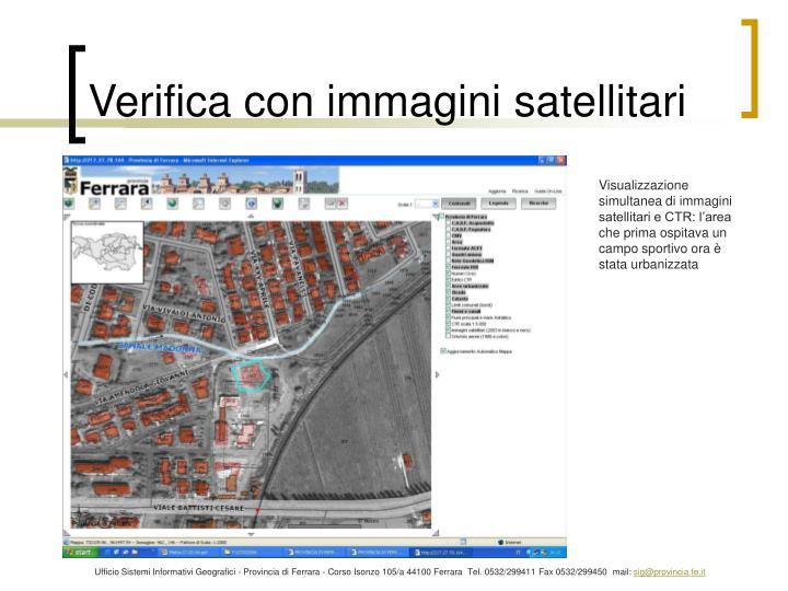 Verifica con immagini satellitari