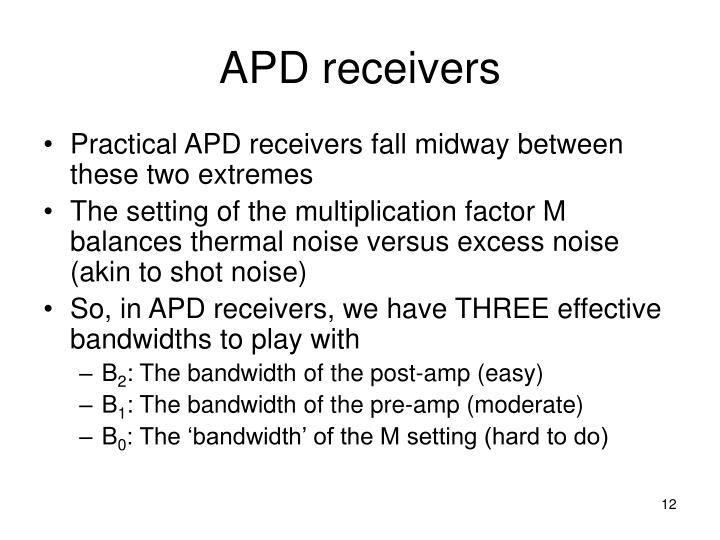 APD receivers