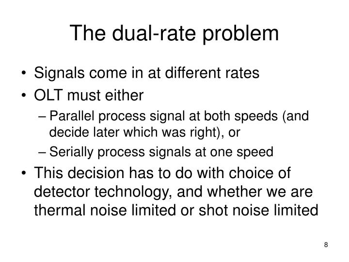 The dual-rate problem