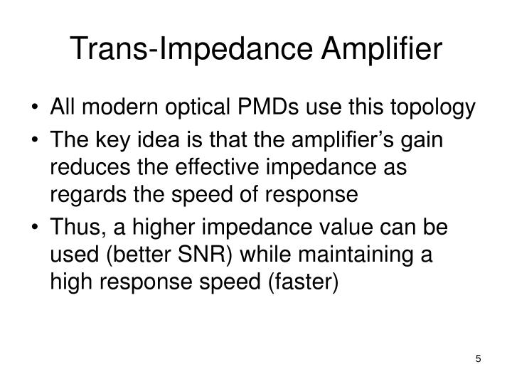 Trans-Impedance Amplifier