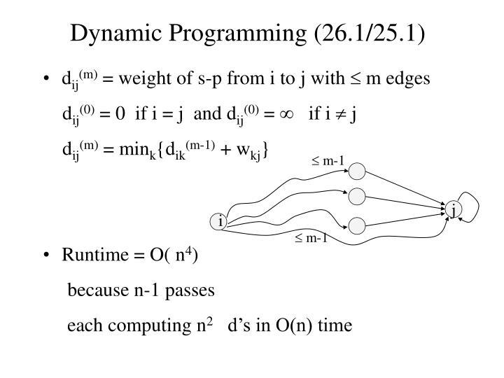 Dynamic Programming (26.1/25.1)