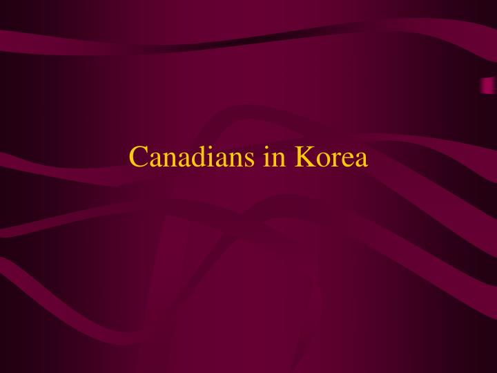 Canadians in korea