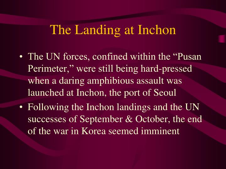 The Landing at Inchon