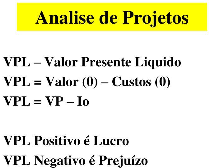Analise de Projetos