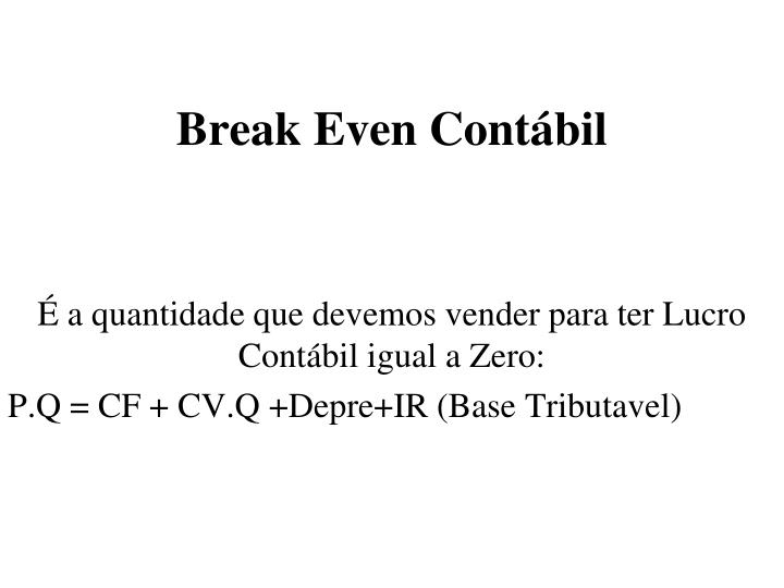 Break Even Contábil